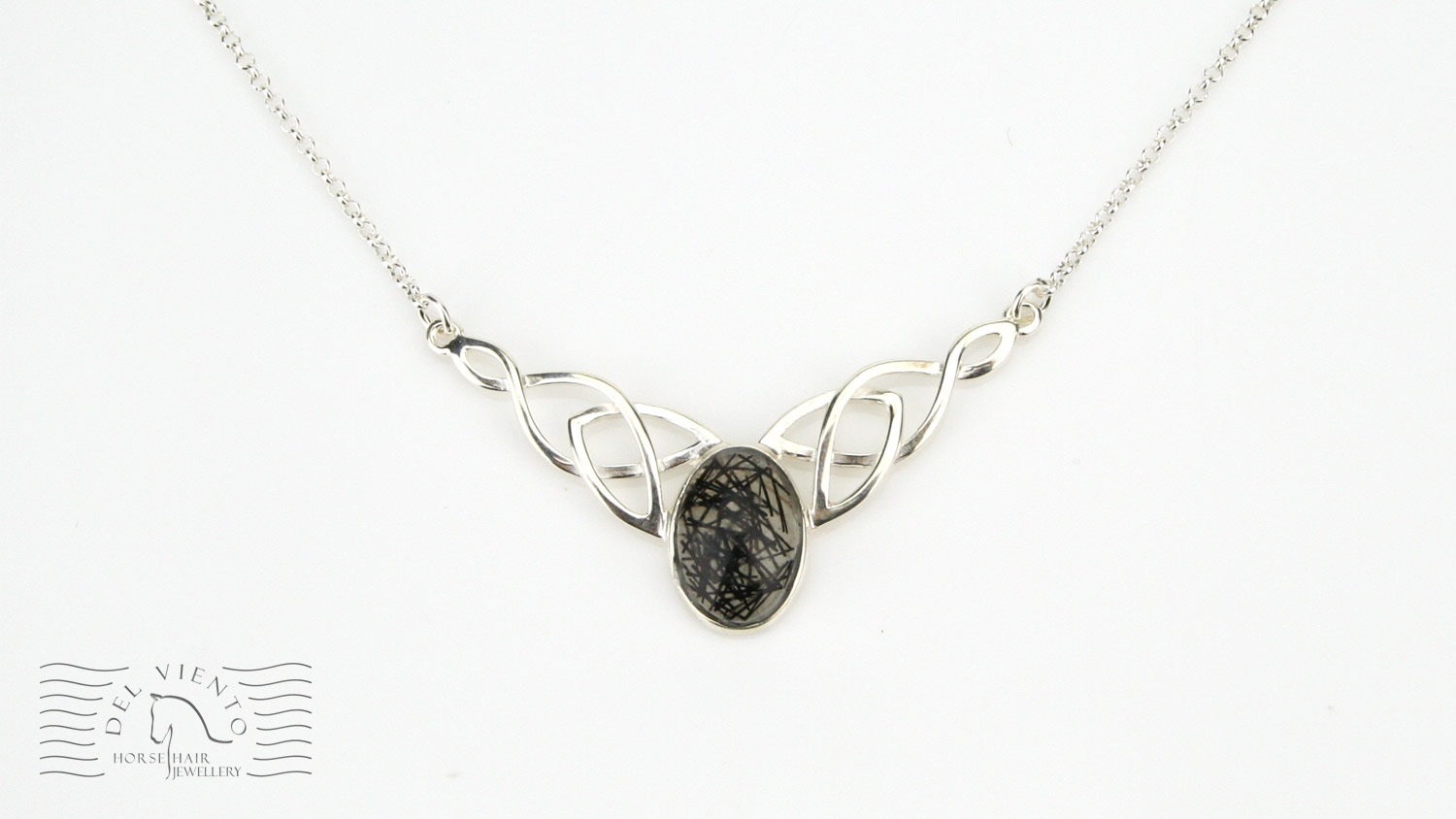 N21CAV Sterling Silver Ornate Oval Pendant